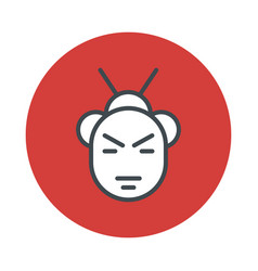Japan samurai icon isolated on white background vector