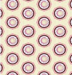 Pattern geometric flowers vector