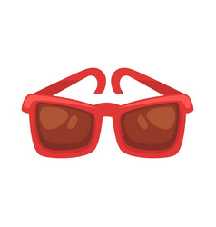 red sunglasses isolated on white vector image