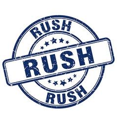 Rush blue grunge round vintage rubber stamp vector