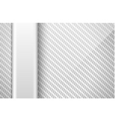 Silver white carbon fiber background with vector