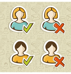 Social media user profile status vector image vector image
