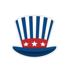 Striped hat icon Toy design graphic vector image