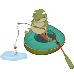 Toad the fisherman vector image vector image