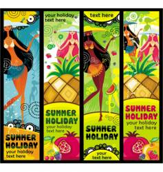 vacation banners vector image