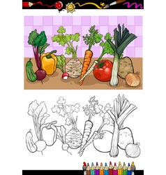 vegetables group for coloring vector image vector image