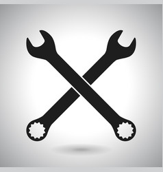 wrench black outline icon vector image