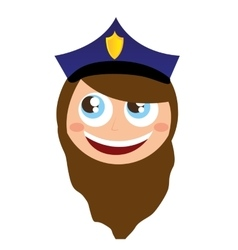 Woman agent police character avatar vector