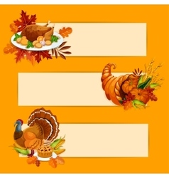 Thanksgiving day banners with copy space for text vector