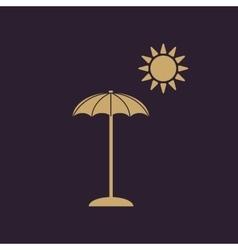 The parasol icon Vacation symbol Flat vector image
