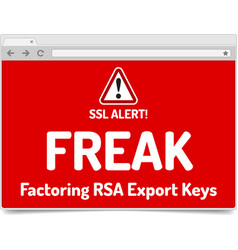 Freak - factoring rsa export keys security - vector