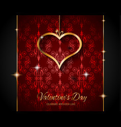 Valentines day restaurant menu template background vector