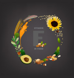 Vitamin e background vector