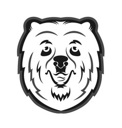 Bear mascot for the sports team print on t-shirt vector