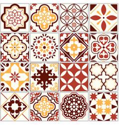 Portuguese tiles lisbon art pattern vector