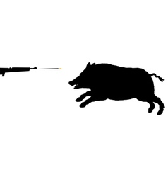 Boar hunting vector