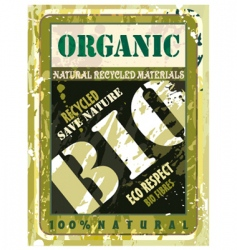 Organic bio label vector