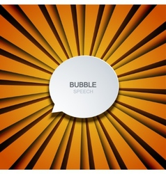 bubble speech on striped background vector image