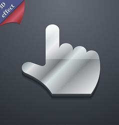 Pointing hand icon symbol 3d style trendy modern vector