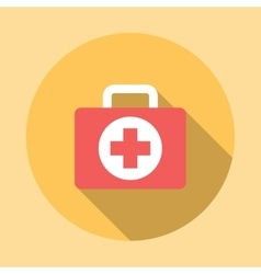 Medicine chest icon vector
