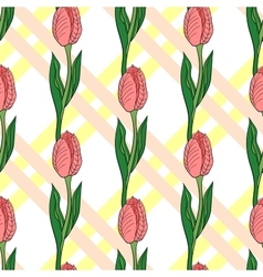Seamless pattern with tulip 2 vector