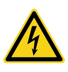 Danger electricity sign vector