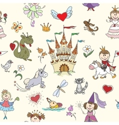 Little princess seamless pattern vector