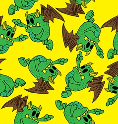 Winged monster pattern vector