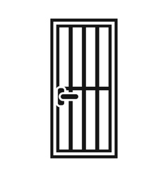 Steel door icon simple style vector