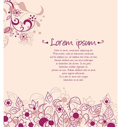 abstract background design with flowers vector image vector image