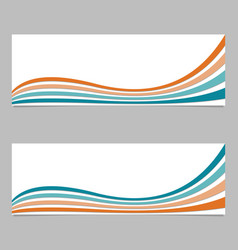 Abstract banner background from wave stripes - vector