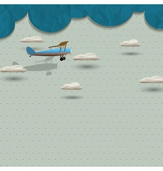 Airplane and clouds from paper vector image vector image