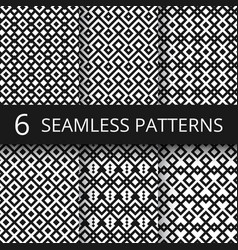 arabic seamless ornamental patterns islam vector image