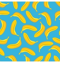 Banana seamless pattern blue background vector image vector image