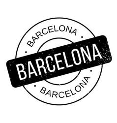 barcelona rubber stamp vector image