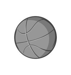Basketball ball icon black monochrome style vector