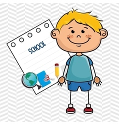boy cartoon school student icon vector image vector image