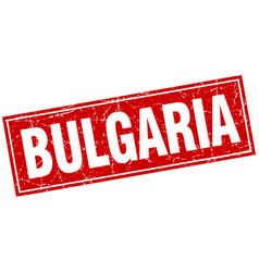 Bulgaria red square grunge vintage isolated stamp vector