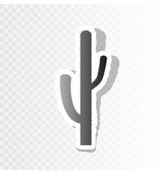 Cactus simple sign new year blackish icon vector