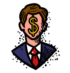 cartoon image of businessman icon leadership vector image