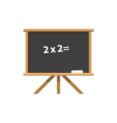 Chalk board on tripod icon cartoon style vector image
