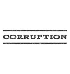 Corruption watermark stamp vector