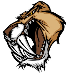 Cougar mascot head graphic vector