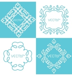 Design elements vintage vector image