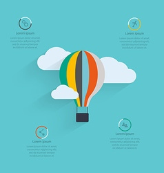 Flat design of the startup process cloud storage vector image vector image
