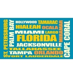 Florida state cities list vector