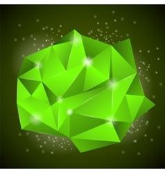 Green Polygonal Stone vector image vector image