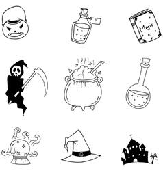 Halloween hand draw doodle vector image vector image