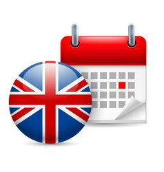 Icon of national day in great britain vector