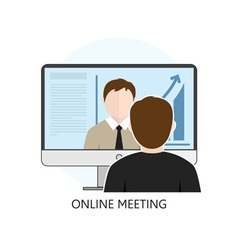 Icon online meeting vector